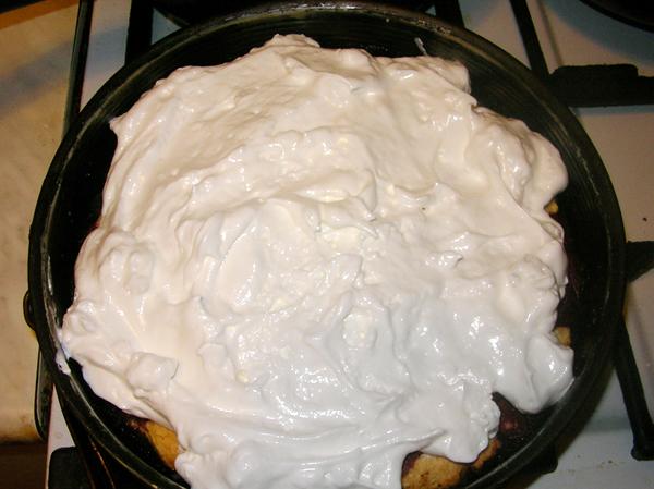 Безе на пирог