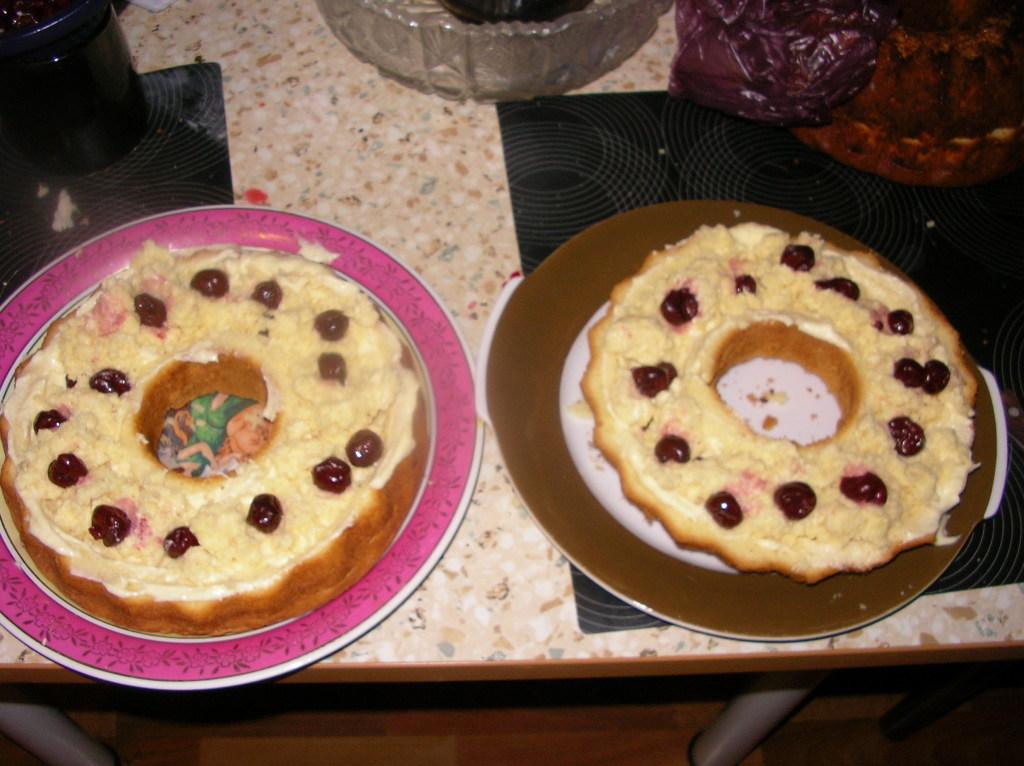 готовые половинки торта
